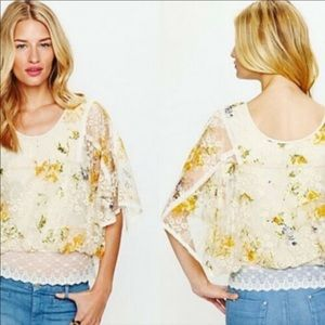 🌼FR͏E͏E PEOPLE🌼 FLORAL CHRISSY LAYERED TOP SZ S